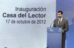 Los Príncipes de Asturias inauguran la Casa Lector