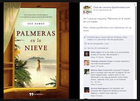 Club de lectura 'Palmeras en la Nieve' con su autora, Luz Gabás