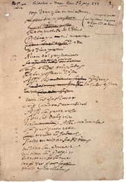 Los últimos poemas de Lope de Vega, de su puño y letra